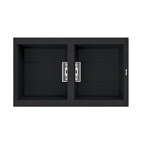 lvi45086smt elleci lavello smart 450 86x51,6 2 vasche black 86 meccanico