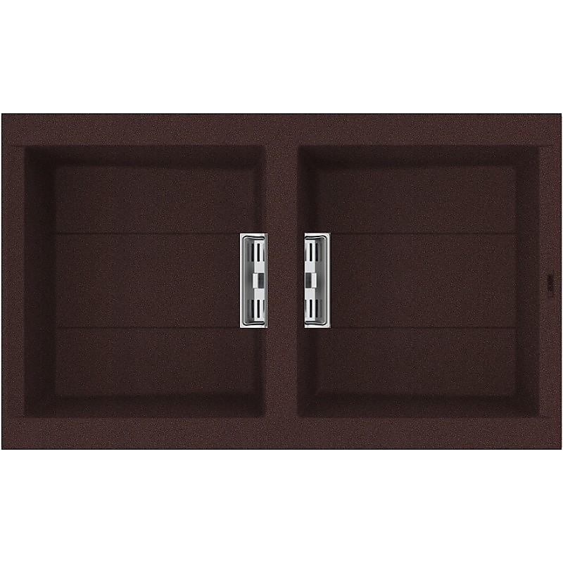 lvi45090smt elleci lavello smart 450 86x51,6 2 vasche chocolate 90 meccanico