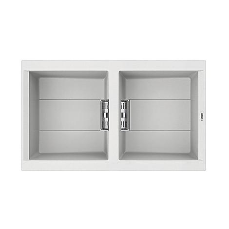lvi45096smt elleci lavello smart 450 86x51,6 2 vasche white 96 meccanico