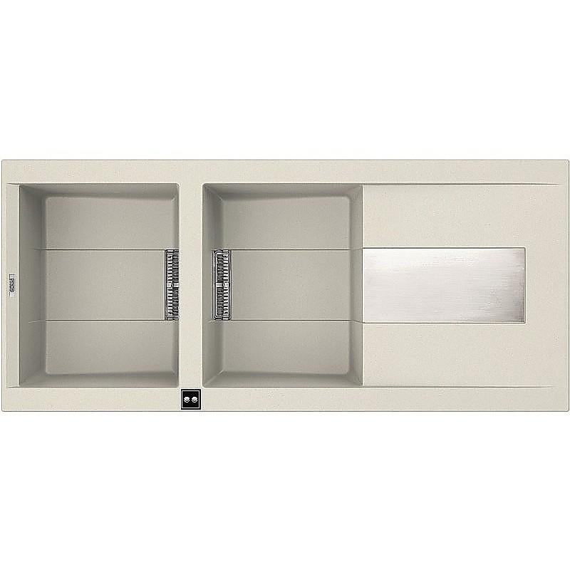 lvi50092smt elleci lavello smart 500 116x51,6 2 vasche old white 92 meccanico