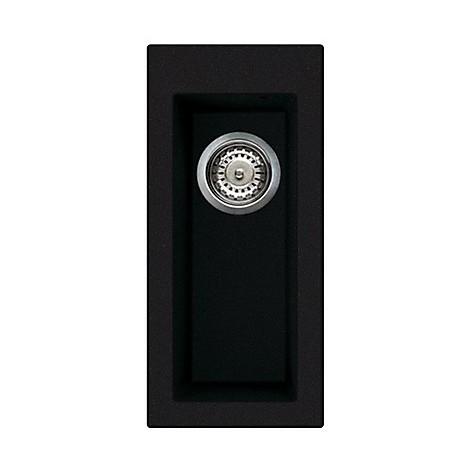 lvq05086 elleci lavello quadra 50 23x50 1 vasca black 86