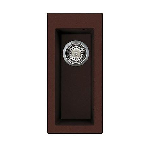 lvq05090 elleci lavello quadra 50 23x50 1 vasca chocolate 90