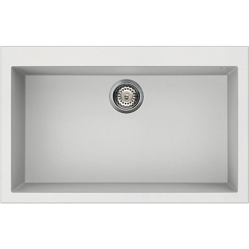 lvq13096 elleci lavello quadra 130 79x50 1 vasca white 96