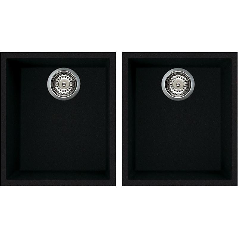 lvq20086bso elleci lavello quadra 200 2 vasche black 86 sotto top