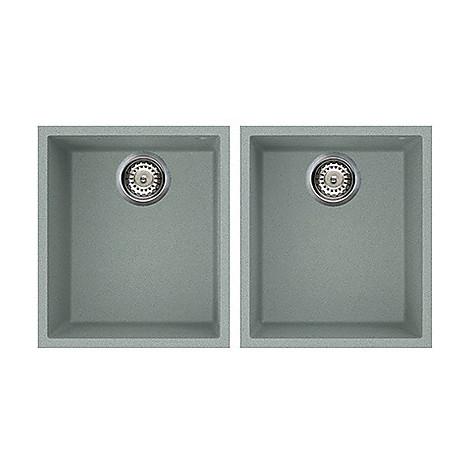 lvq20097bso elleci lavello quadra 200 2 vasche silver 97 sotto top
