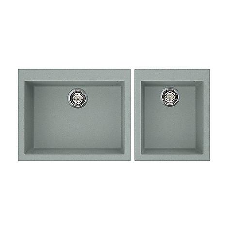 lvq21097 elleci lavello quadra 210 2 vasche silver 97