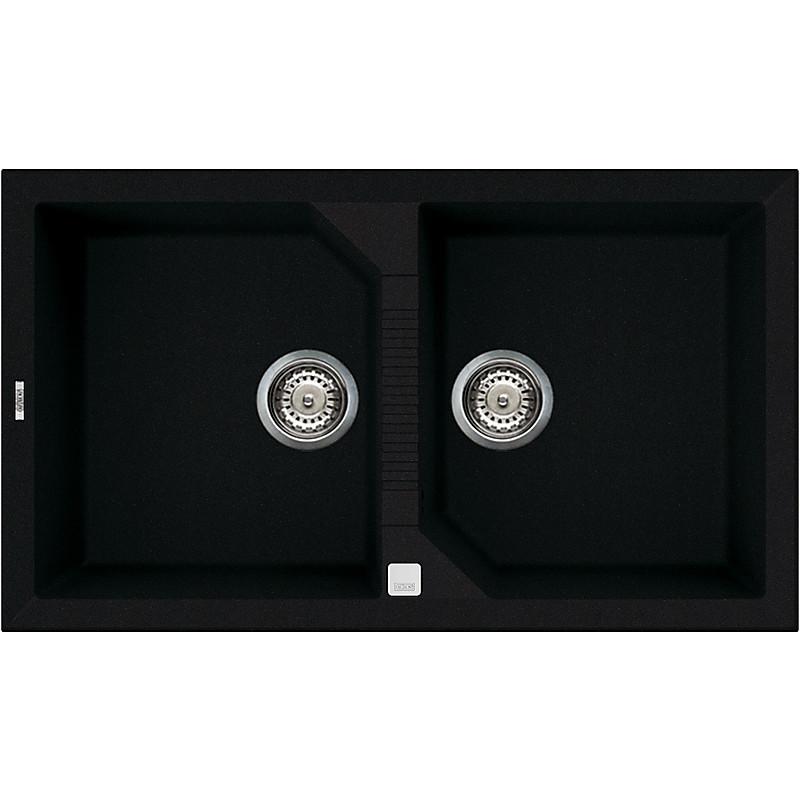 lvt45086 elleci lavello tekno 450 86x50 2 vasche black 86