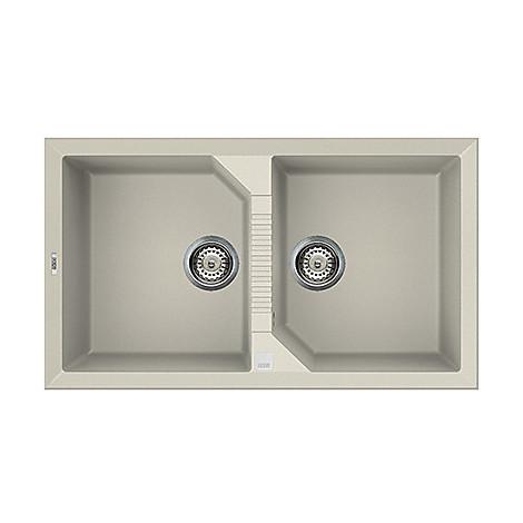 lvt45092 elleci lavello tekno 450 86x50 2 vasche old white 92