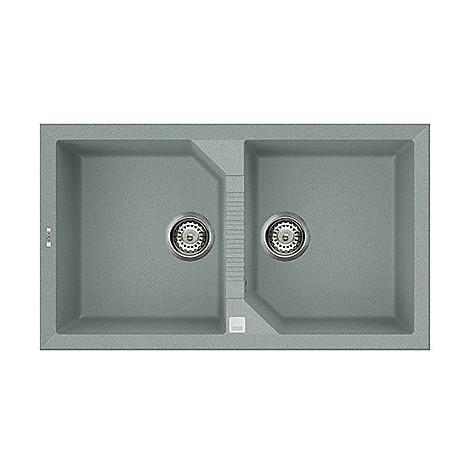 lvt45097 elleci lavello tekno 450 86x50 2 vasche silver 97