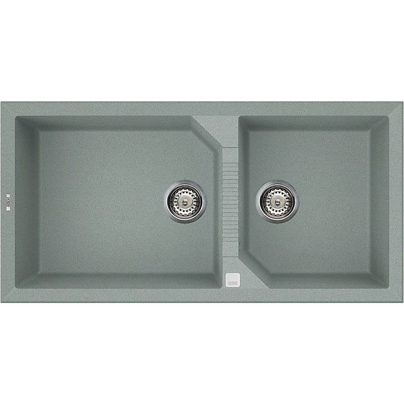 lvt49097 elleci lavello tekno 490 100x50 2 vasche silver 97