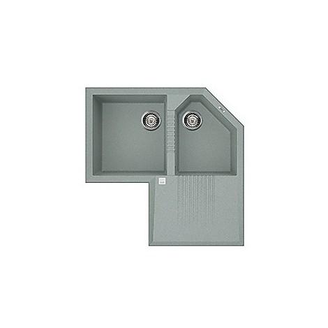 lvtcor97 elleci lavello tekno corner 83x83 2 vasche silver 97