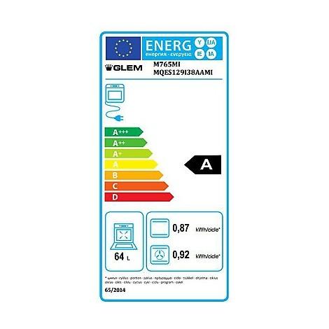 m-765mi glem gas cucina 70x60 4 fuochi a gas forno elettrico 64 litri inox