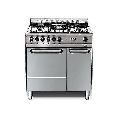 m-85g/c lofra cucina 80x50 5 fuochi a gas inox