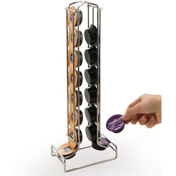 Macom 602 Dispenser 16 totem porta capsule per capsule A Modo Mio acciaio cromato
