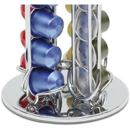 Macom 832 Dispenser 40 portacapsule in acciaio cromato per 40 capsule Nespresso