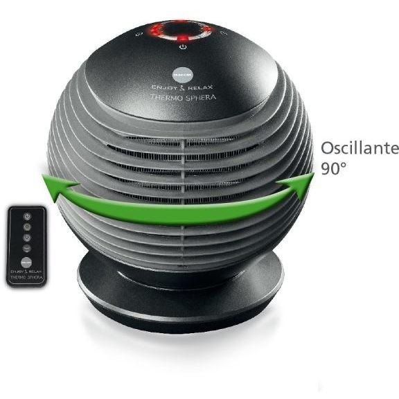Macom 930 Thermo Sphera termoventilatore sferico timer programmabile 1/6h 3 intesità di calore
