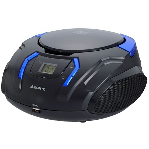 Majestic AH-225R MP3 USB radioregistratore lettore CD Mp3 ingressi USB e AUX colore nero e blu