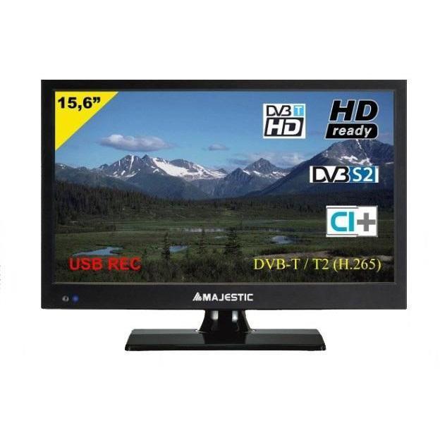 "Majestic TVD-215 S2 LED MP08 monitor Tv LED 15,6"" HD Ready t2 sat usb classe A colore nero"