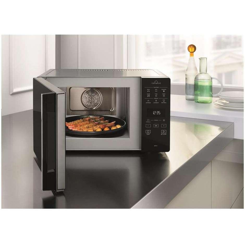 Mcp349sl whirlpool forno a microonde con grill e funzione vapore 25 litri nero inox cottura - Forno e microonde insieme ...