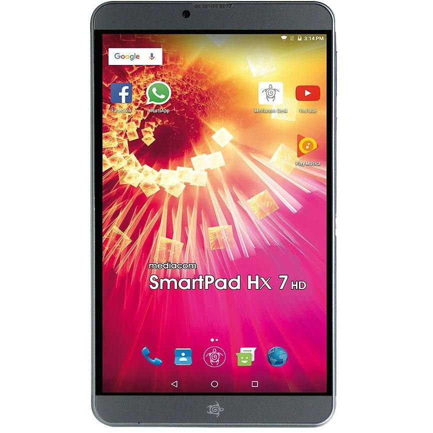 "Mediacom SmartPad M-SP7HXAH Tablet Dual Sim 7,0"" memoria 16 GB Wifi 3G Android 6.0 colore Grigio"