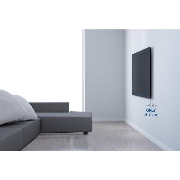 Meliconi 200ST Slim Style Staffa TV da parete Capacità max 30 Kg Colore Nero