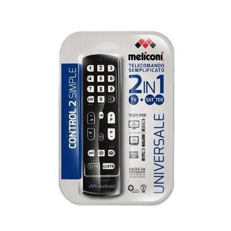 Meliconi Control 2 Simple telecomando universale per comandare max 2 apparecchi