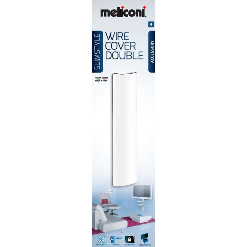 Meliconi SlimStyle Wire Cover Double raccordo coprifili colore bianco