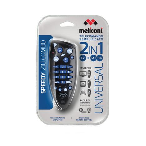 Meliconi Speedy 210 combo RC telecomando universale per Tv e digitale terrestre o satellitare