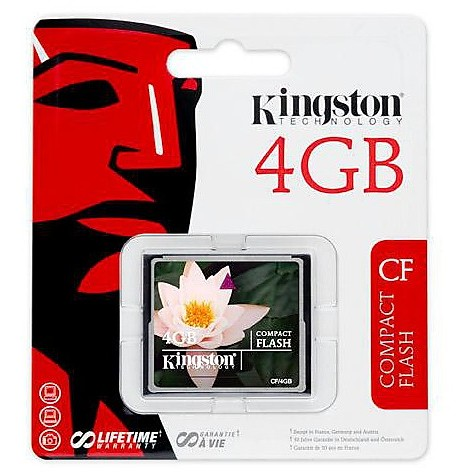 Memory card 4gb compactflash card