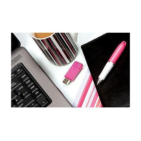 memory usb -16gb- pin stripe pink