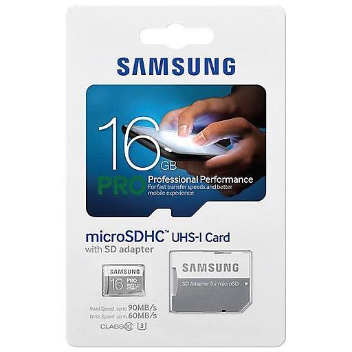 microsd pro 16gb hc uhs grado 1