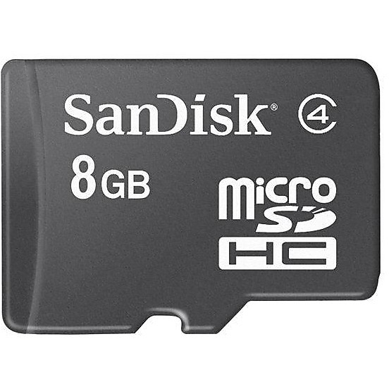 microsdhc 8gb card + sd adapter