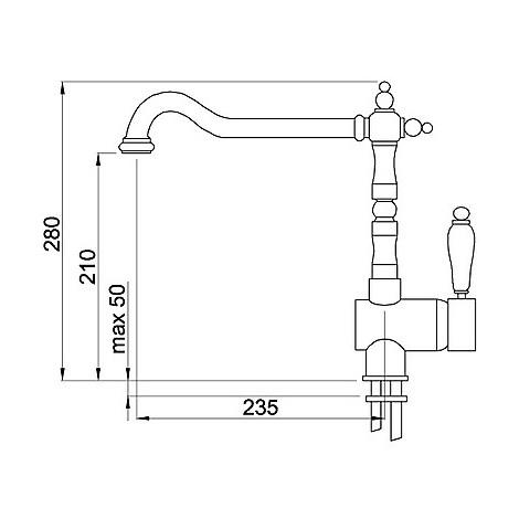 mmkrep79 elleci miscelatore reno plus aluminium 79