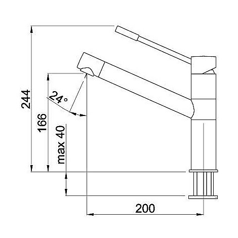 mmksav73 elleci miscelatore sava titanium 73
