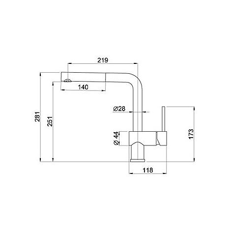 mmkstr79 elleci miscelatore stream aluminium 79