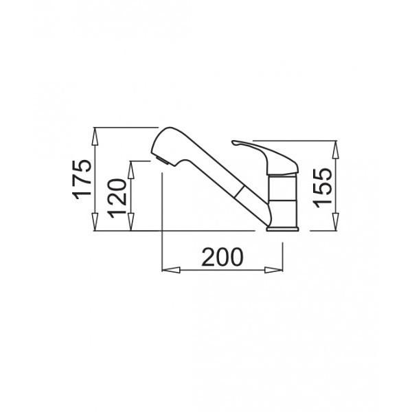mmkven73 elleci miscelatore venere titanium 73