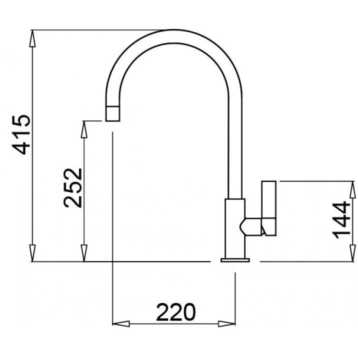 mmkvta73 elleci miscelatore volta titanium 73
