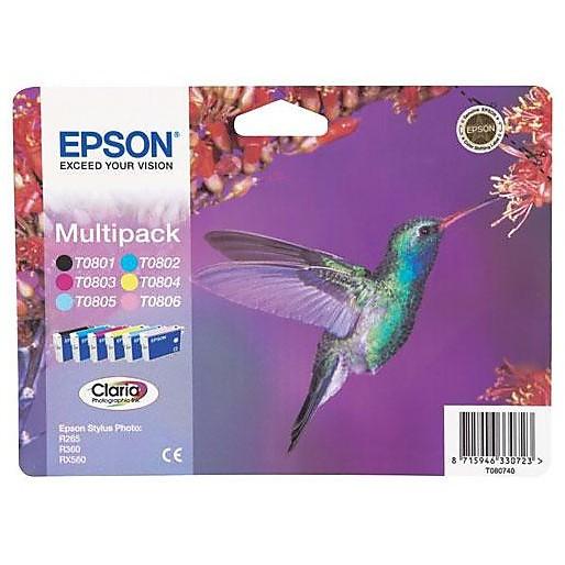 multipack (t080) 6 colori blister