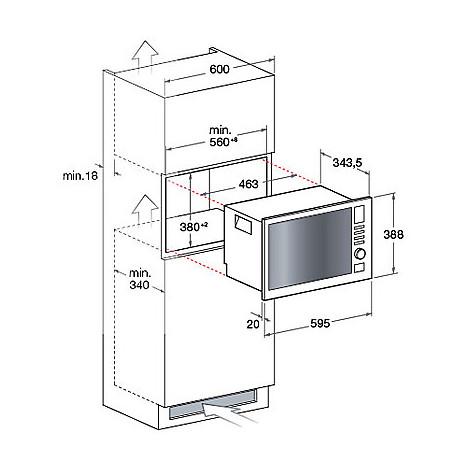 MWA 121.1 X/HA Hotpoint/Ariston forno a microonde da incasso 20L ...