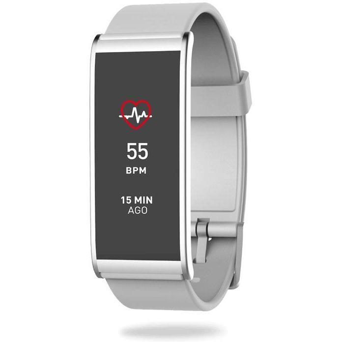 "Mykronoz Zefit 4HR Smartwatch Activity Tracker Display 1,06"" Cardiofrequenzimetro Bluetooth colore Argento,Bianco"