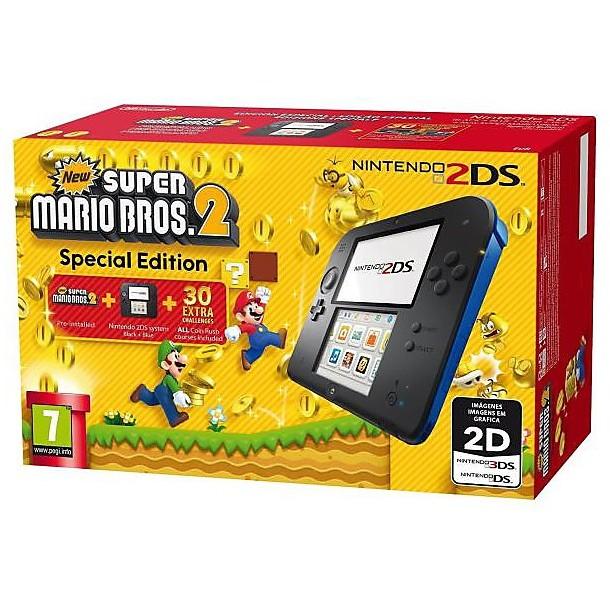 Nintendo 2ds hw nero,blu + new super mario bros 2