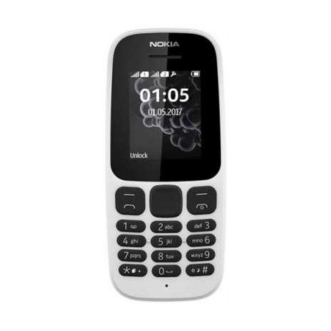 Nokia 105 Telefono Cellulare Dual Sim Dispaly 1,8 pollici colore Bianco