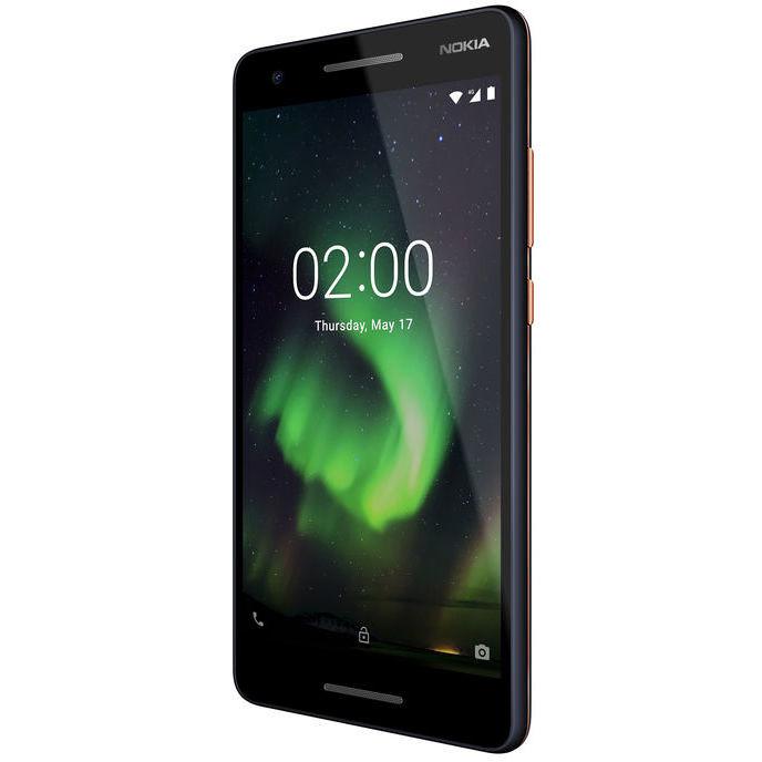 "Nokia 2.1 Smartphone Dual Sim 5,5"" HD memoria 8 GB Fotocamera 8 MP Android colore Blu,Rame"