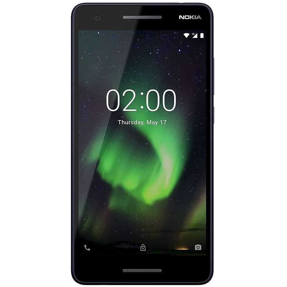 "Nokia 2.1 Smartphone Dual Sim 5,5"" HD memoria 8 GB Fotocamera 8 MP Android colore Blu,Silver"