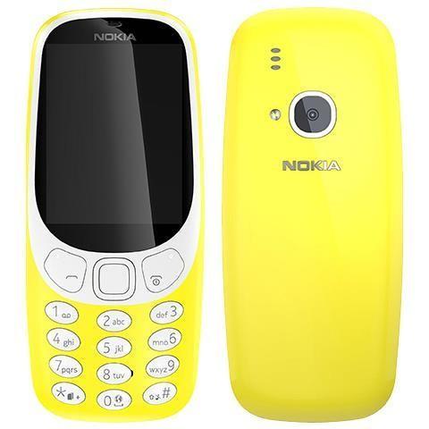 Nokia 3310 Dual Sim Telefono Cellulare Display 2,4 pollici Fotocamera 2 MP colore Giallo
