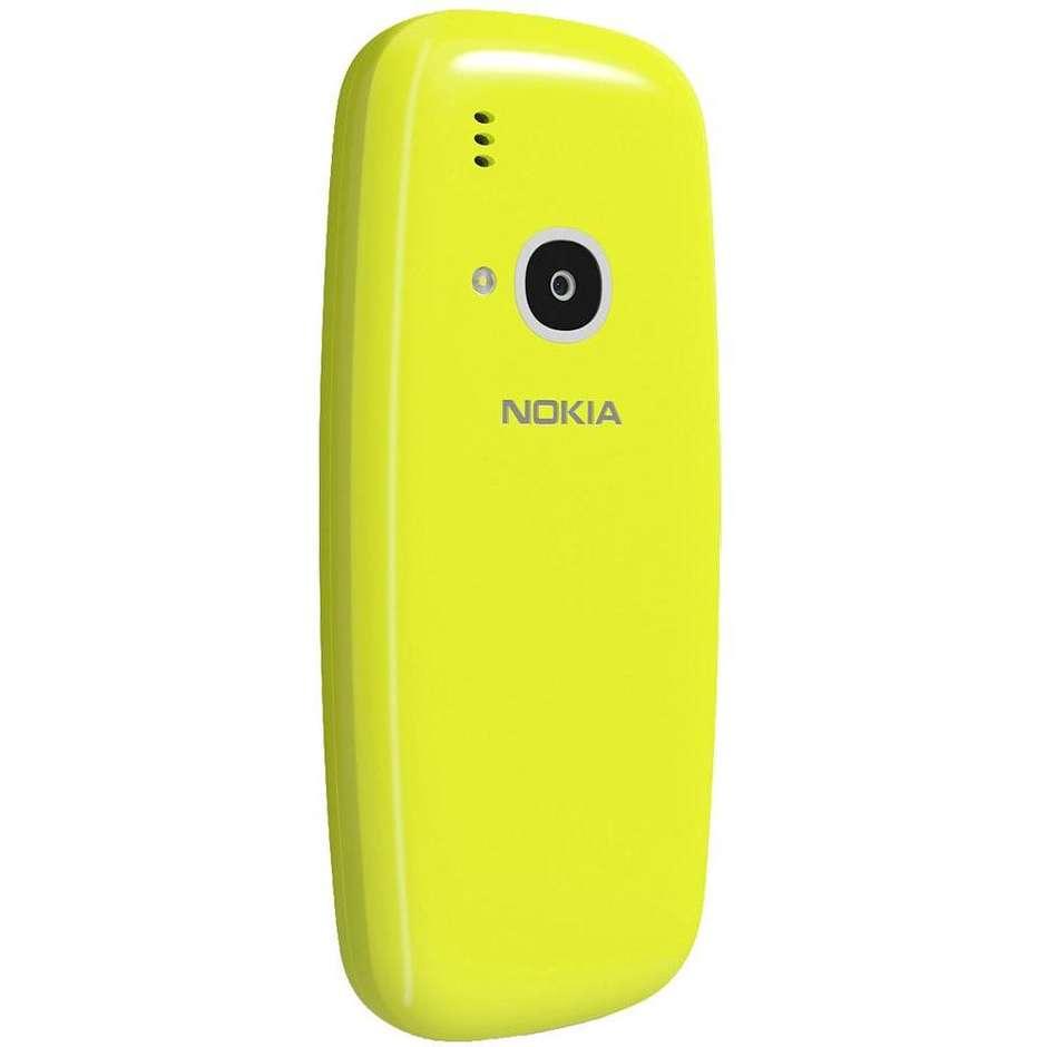 """Nokia 3310 telefono cellulare 2,4"""" 3G dual sim fotocamera 2 Mpx colore giallo"""