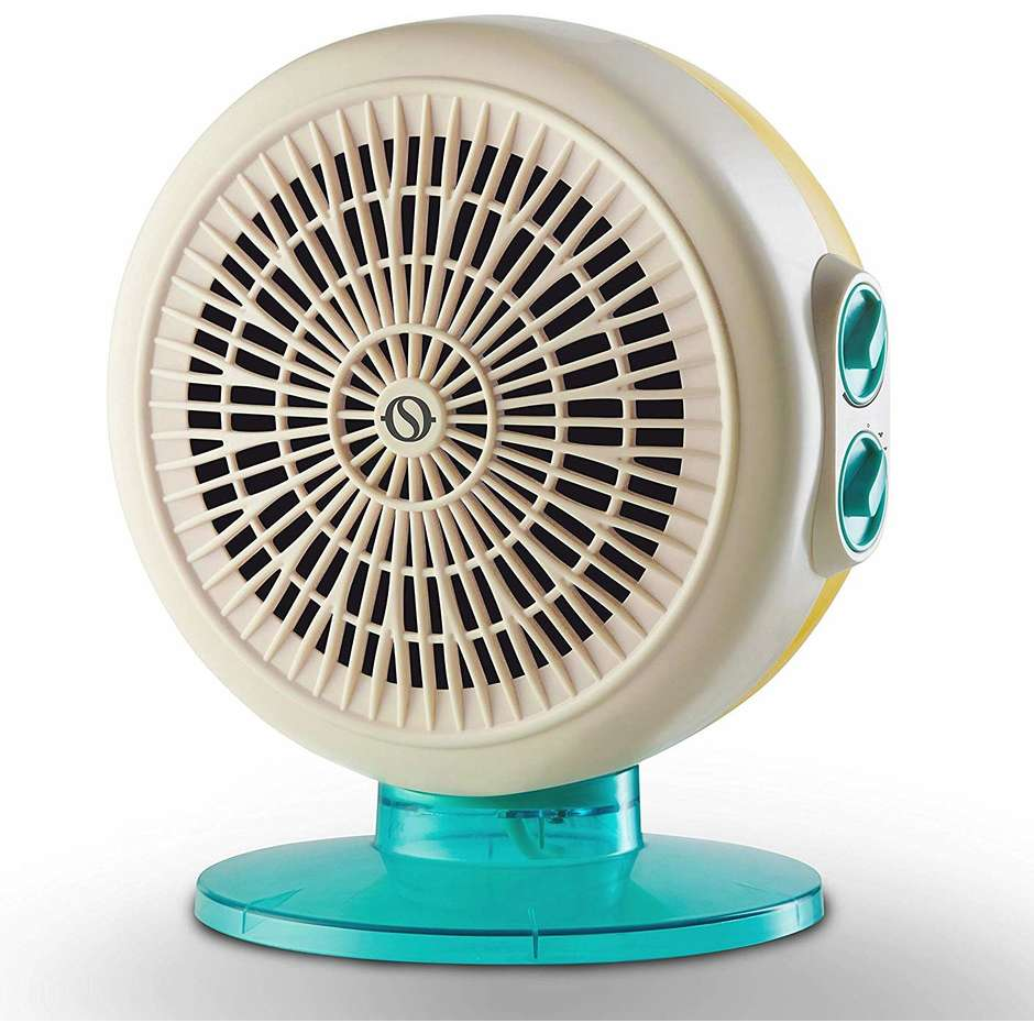 Olimpia Splendid CALDO CIRCLE 22 termoventilatore 3 velocità potenza max 2200 Watt colore bianco e azzurro