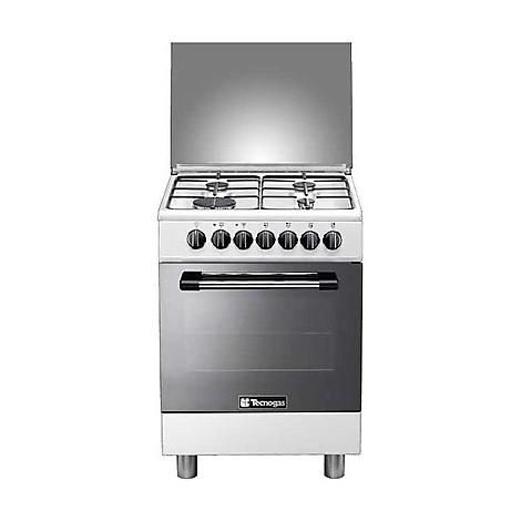 p-654gvw tecnogas cucina da 60 cm 4 fuochi a gas forno a gas bianca