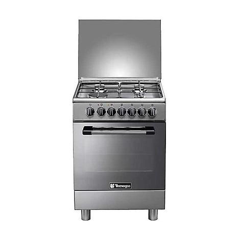 p-654gvx tecnogas cucina da 60 cm 4 fuochi a gas forno a gas inox
