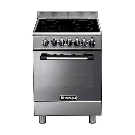 p-664cmx tecnogas cucina da 60 cm 4 zone cottura forno elettrico inox